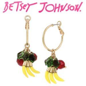 Betsey Johnson Summer Picnic Fruit Hoop Earrings